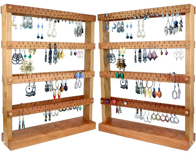 Tom's Earring Holder's double sided medium cherry earring holder.