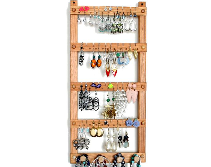 Tom's Earring Holders Cherry Jewelry Display with Necklace Rack