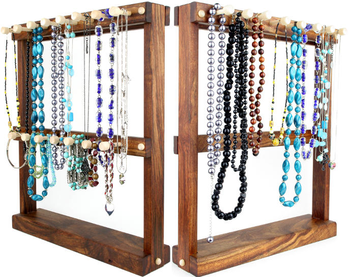 Standing Necklace Tree Holders And Bracelet Holders For